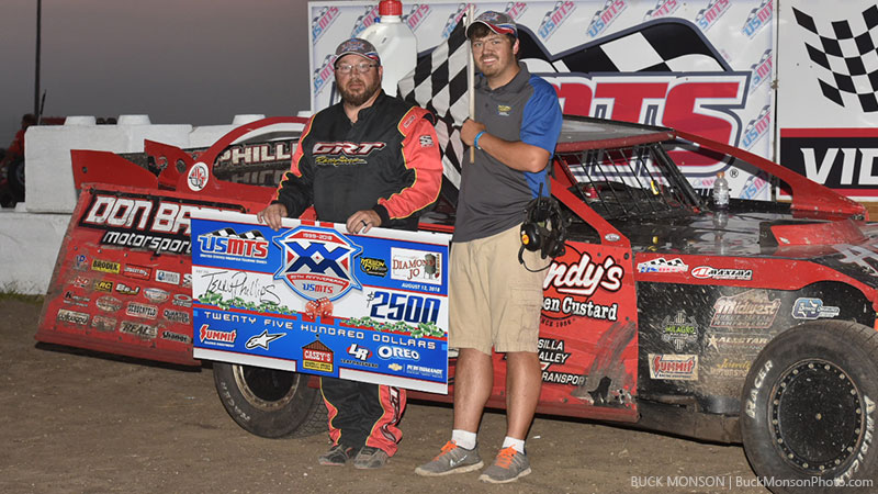 Terry Phillips picked up the USMTS win at the Mason City Motor Speedway on aug. 12, 2018.